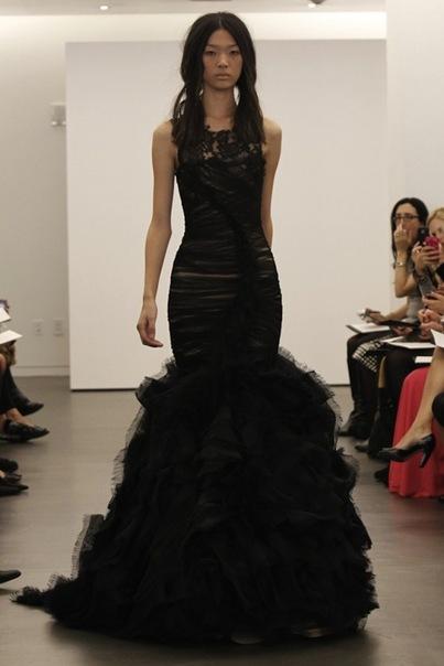 свадебные платья черного цвета от Vera.