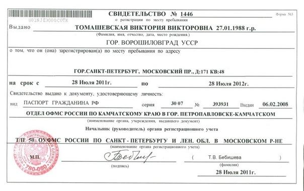 Временная регистрация в спб василеостровский район назначения личной медицинской книжки