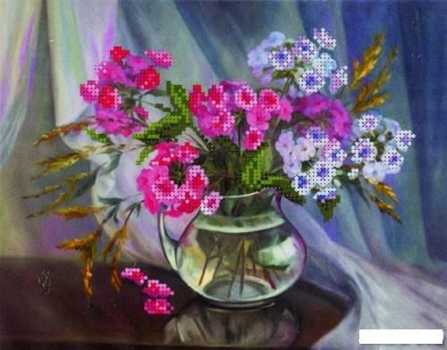 Вышивка бисером цветы в вазе