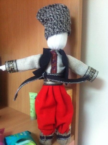 Кукла на руку мастер класс