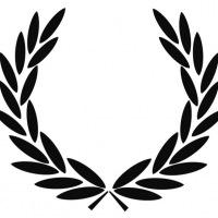Лавровый венок, логотип британской марки одежды Fred Perry.