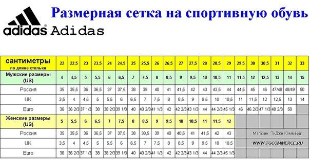 Детская обувь размеры сша россия