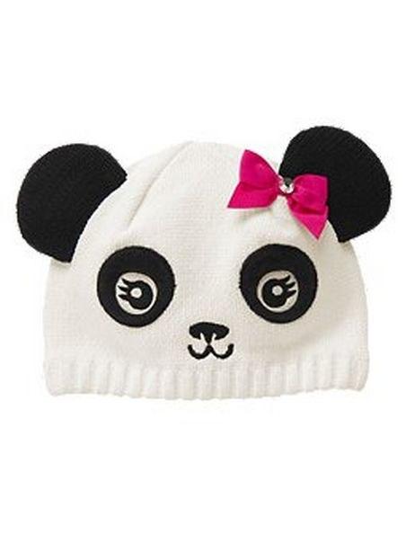 Теплая вязаная шапка-панд.  0. Категория: Вязание.  Шапочка Панда.