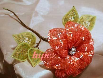 плетения цветов из бисера