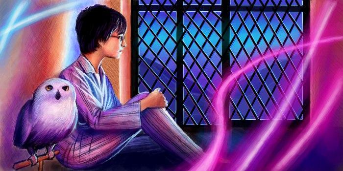 Живое граффити Гарри Поттер