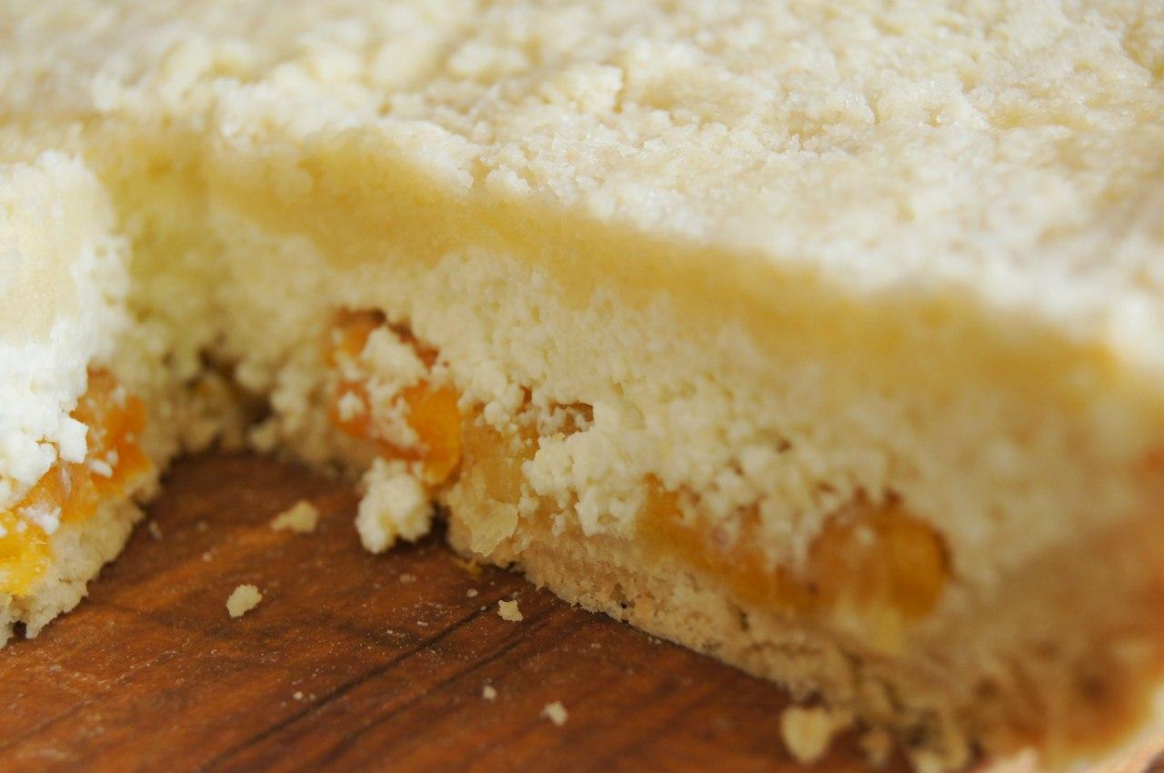 Рассыпчатый пирог с творогом рецепт пошагово фото