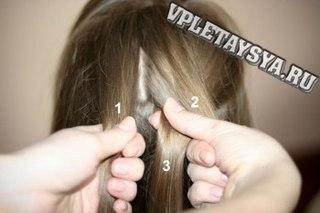 Фотоурок по плетению французской косы наоборот (вывернутой или обратной) .