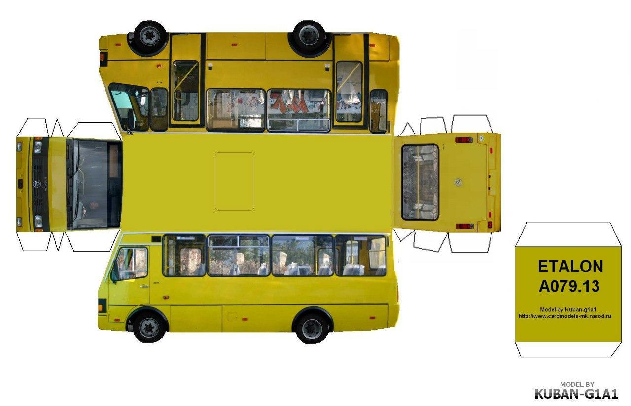 Как сделать автобус из бумаги 416