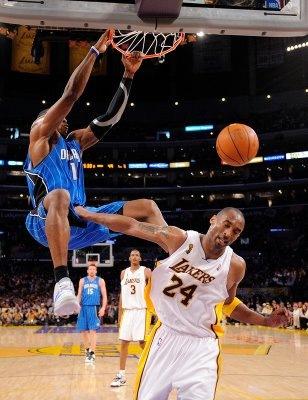Dwight Howard Dunks On Kobe Bryant