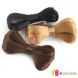 Заколка-прищепка в виде банта из волос (бант для шатенок(коричневый)).  Оригинальная заколка в виде банта послужит...