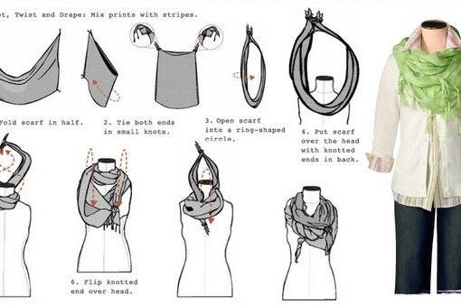 Как красиво завязывать шарфы