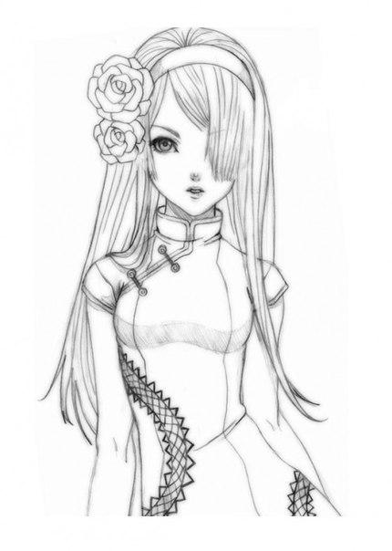 как нарисовать аниме кошку девушку: