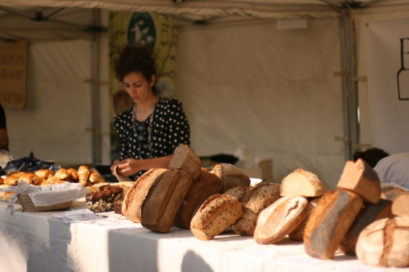 homemade bread on fair of the earth