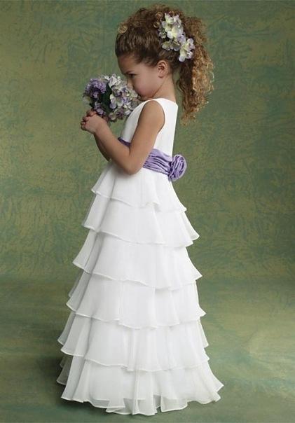 Платье в пол для ребенка своими руками