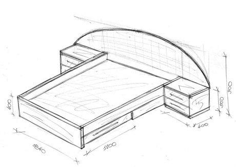 Чертеж двуспальная кровать своими руками