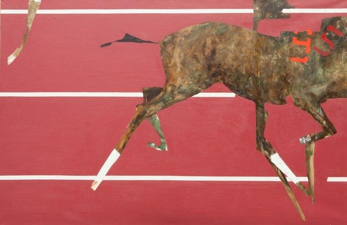Микита Кравцов, із серії Перегони (фрагмент), 2012, полотно, олія