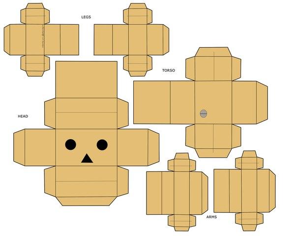 Человек коробка своими руками