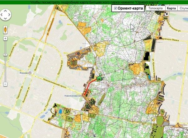 карта Битцевского Парка!