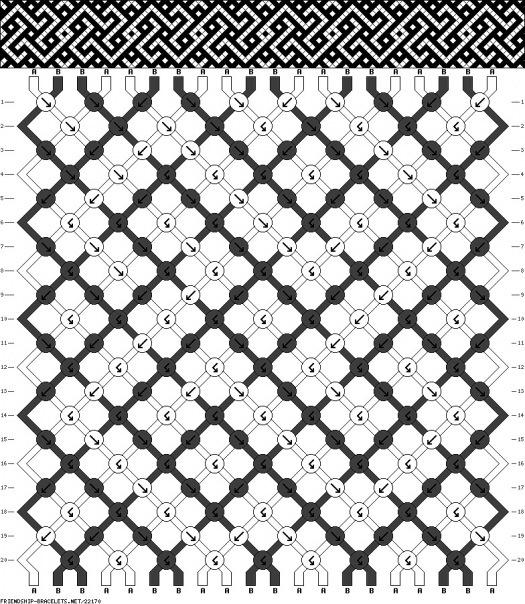 Схема фенечка свастика