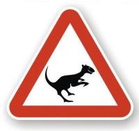 """Это предупреждающий дорожный знак  """"Осторожно чупакабра! """"."""
