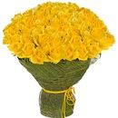 Букет из 55 желтых роз.