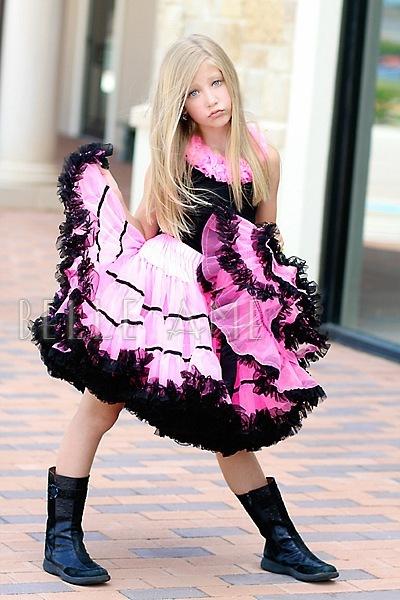 Юбка Belle Ame Hotpink+Black satin(ярко-розовая с черными лентами)