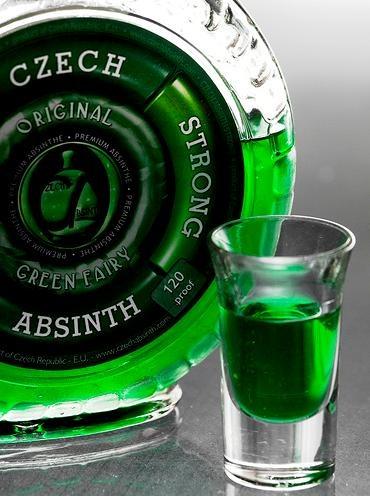 Самый крепкий алкогольный напиток - Абсент.  70 об.% спирта.