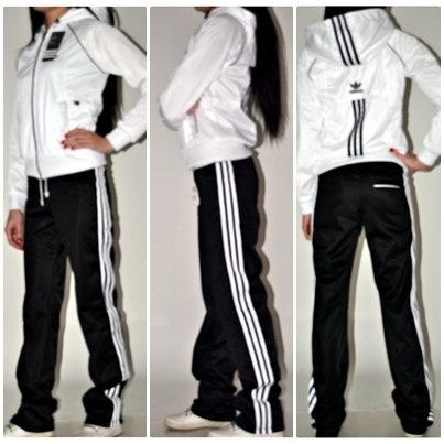 Блузки от производителя! — Белый спортивный костюм адидас женский 53fc46152319f