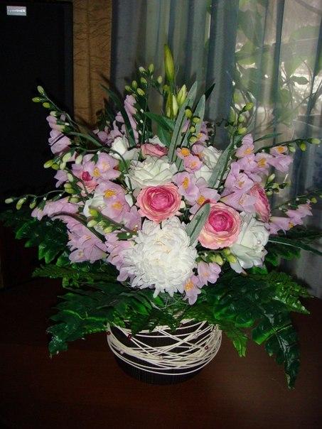 Букеты из искусственных цветов своими руками мастер  508