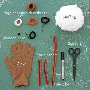 Что можно сделать из одной старой перчатки.  Мастер-класс)). дизайнерские штучки.
