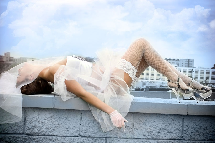 Чулки на невестах 21 фотография