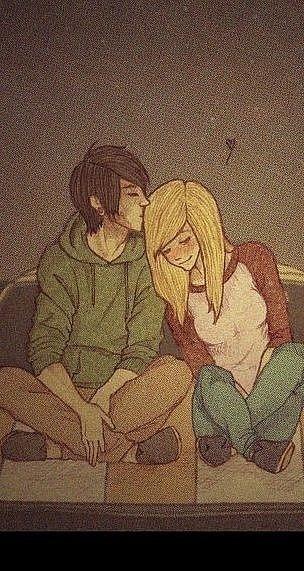 34 Парень с девушкой целуются фото рисунок