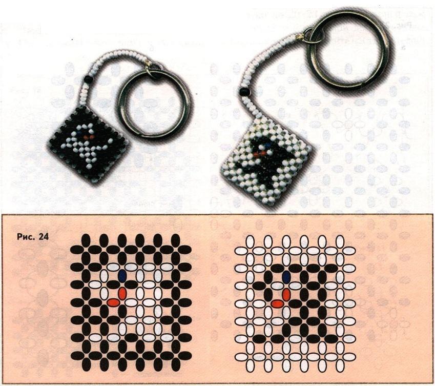 Схема брелка на телефон
