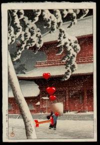 ...Shinhanga woodblock prints, paintings, various objects and ivory or wood netsuke Japanese miniature carvings.