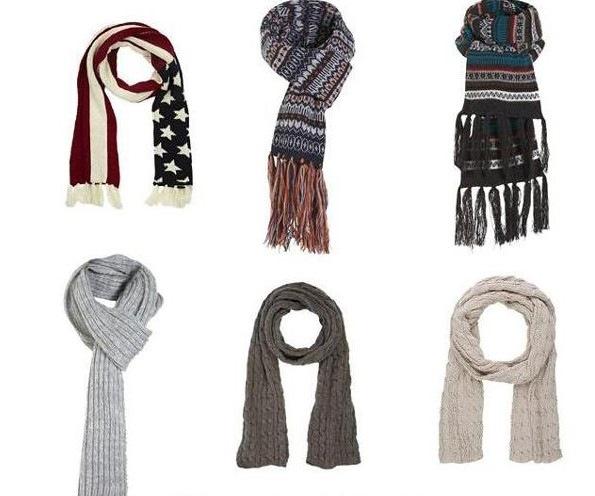 Как завязывать шарф Мода 2012, модные.  В моде теплые и уютные шарфы.