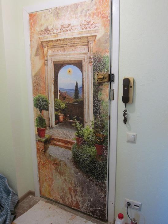 Декупаж межкомнатных дверей своими руками
