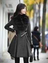 зимнее женское пальто шерстяное или из кашемира фото.