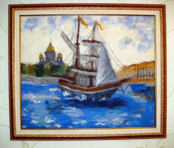 ...по валянию картин в технике шерстяная акварель, 30 апреля, Киев.