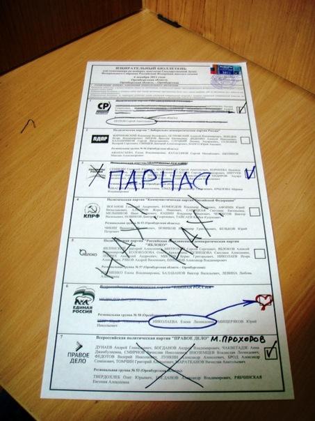 Вот так я проголосовал в 2011 году.