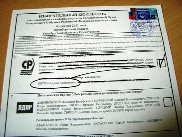 Я проголосовал – ЗА Петрова.