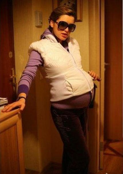 Бородина беременной
