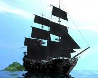 фото чёрная жемчужина корабль