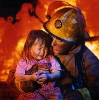 """Оригинал схемы вышивки  """"Спасатель """".  Спасатель, он, парень, мужчина, пожарный, пожарник, огонь, пожар, отважный..."""
