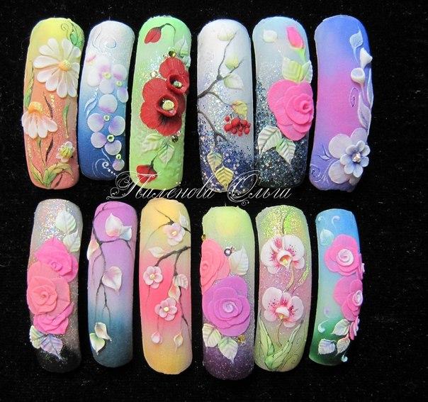 Лепка ногтей акрилом дизайн