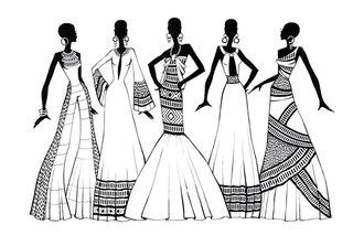 эскизы одежды невесты