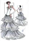 Отправить по почте.  Эскиз свадебного платья нарисовала Рудковская.