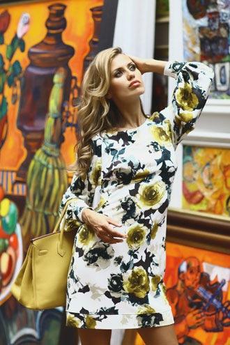 Климона желтое платье