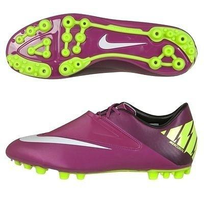Nike Mercurial Glide II AG Football Boots - Red Plum/Windchill/Volt.