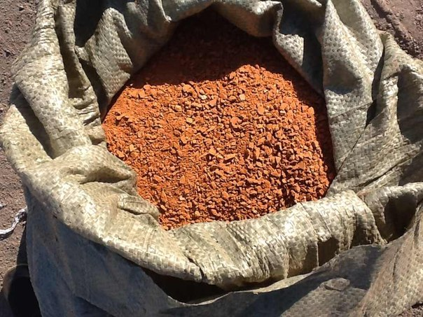Кирпичная керамическая крошка - Материалы для строительства - Кирпичная керамическая крошка, отсев.