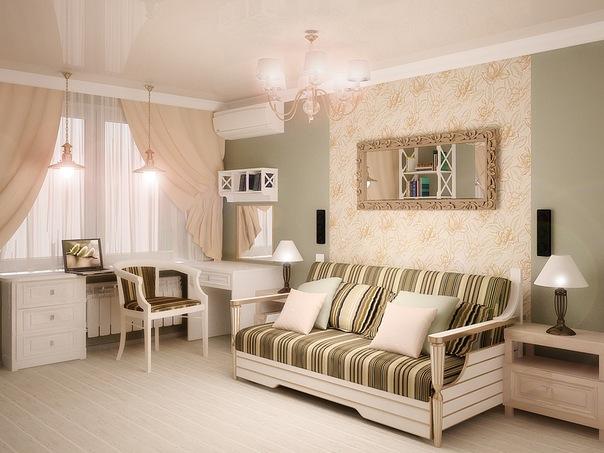 Компактная женская квартира